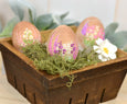 Wooden Egg Decoration Spring Garden Scene 3