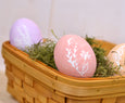 Wicker Basket for Easter Egg Display