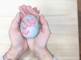 Cherry Blossom Ceramic Egg Decor