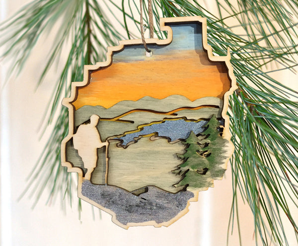 Adirondack Park Hiker Ornament