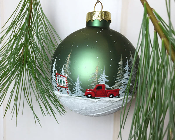 Tree Farm Christmas Ornament - Red Truck