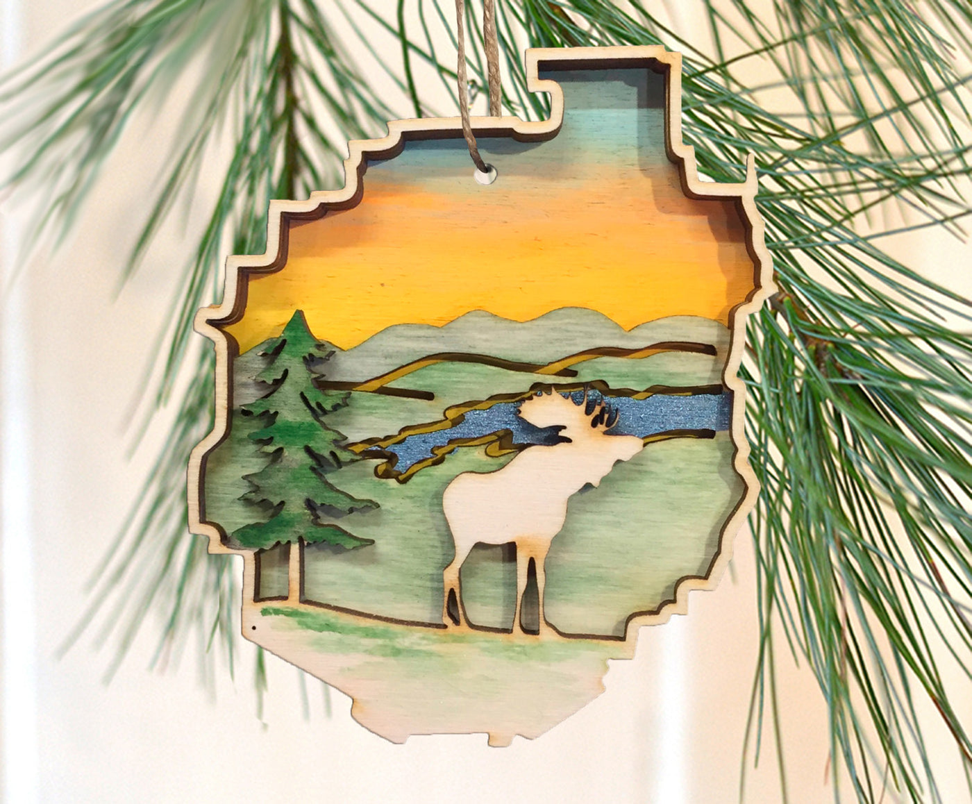Adirondack Park Moose Ornament
