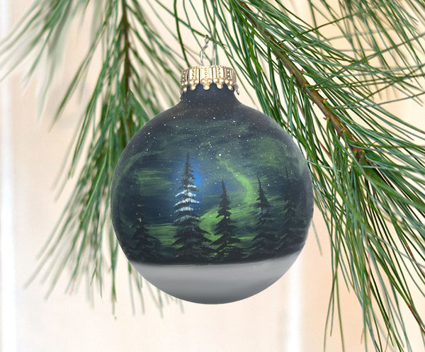Northern Lights - Forest Ornament
