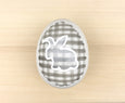 Black Plaid Ceramic Easter Egg