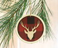 Buffalo Check Plaid Animal Head Ornaments