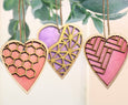 Wooden Heart Ornaments