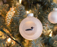 Rustic Christmas hand painted Loon ornament