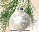 Size for snowflake Christmas ornament