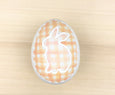 Orange Plaid Ceramic Easter Egg