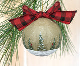 Rustic Christmas ornament paper mache