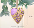 Purple prism design ornament