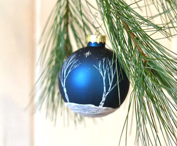 Night Sky navy blue ornament