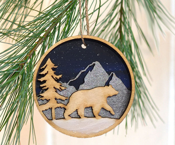 Wooden Forest Ornaments