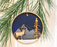 wooden elk ornament
