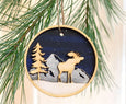 Wooden Forest Ornament Set