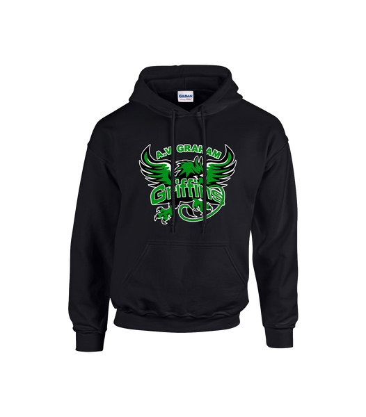 Griffins Youth Cotton Hoodie with Printed Logo Personalized Lower Back