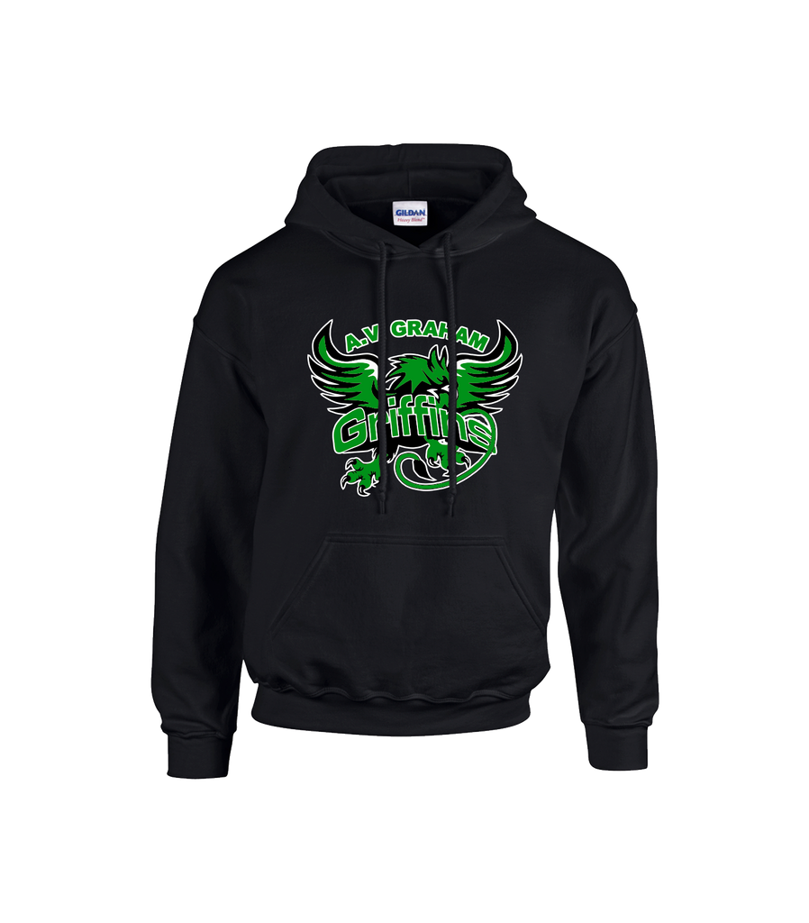 Griffins Adult Cotton Hoodie With Personalized Lower Back