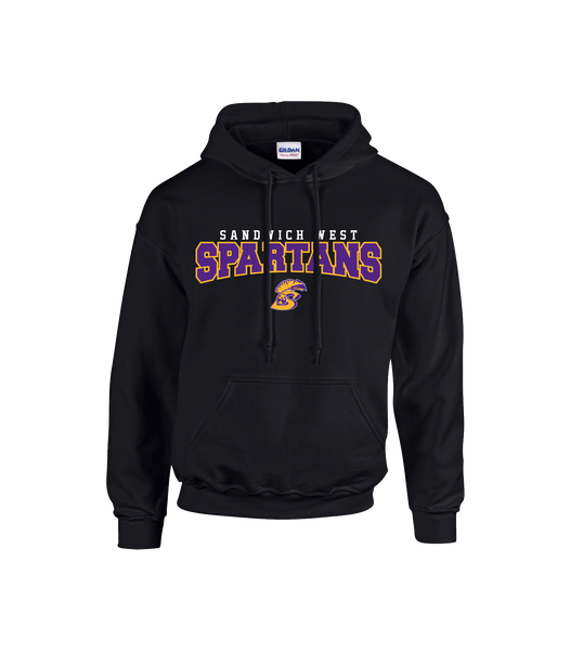 Spartans Youth Cotton Hoodie with Printed Logo