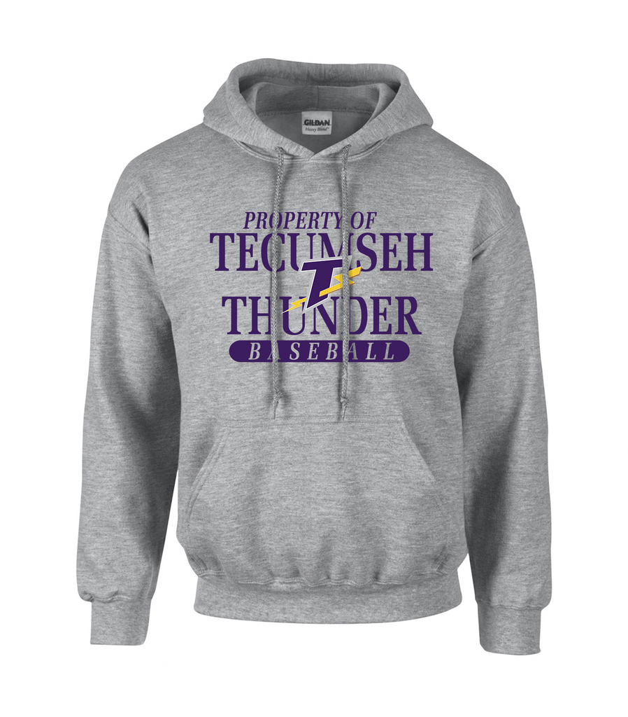 Thunder Adult 'Property of Tecumseh Thunder' Cotton Hoodie
