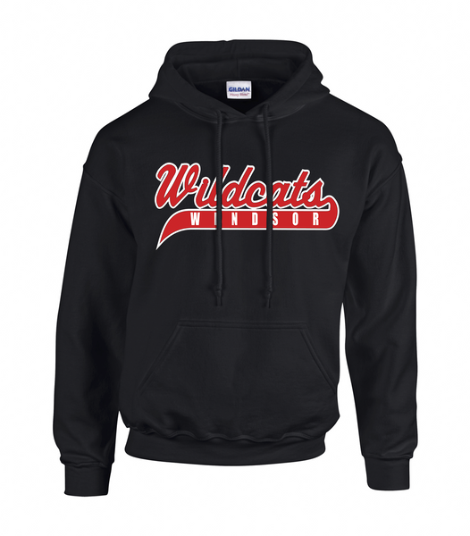 Wildcats Softball Youth Cotton Hoodie With Embroidered Logo