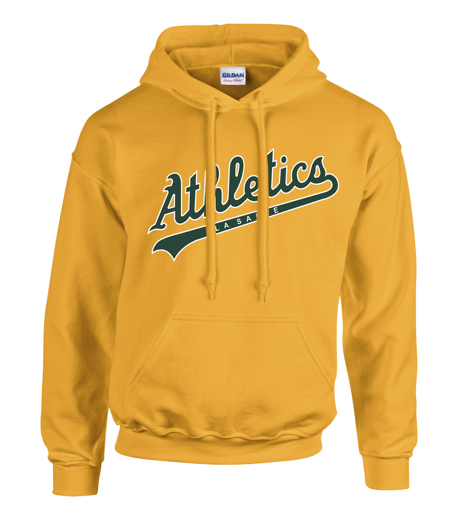 LaSalle Athletics Adult Cotton Hoodie with Embroidered Applique Logo