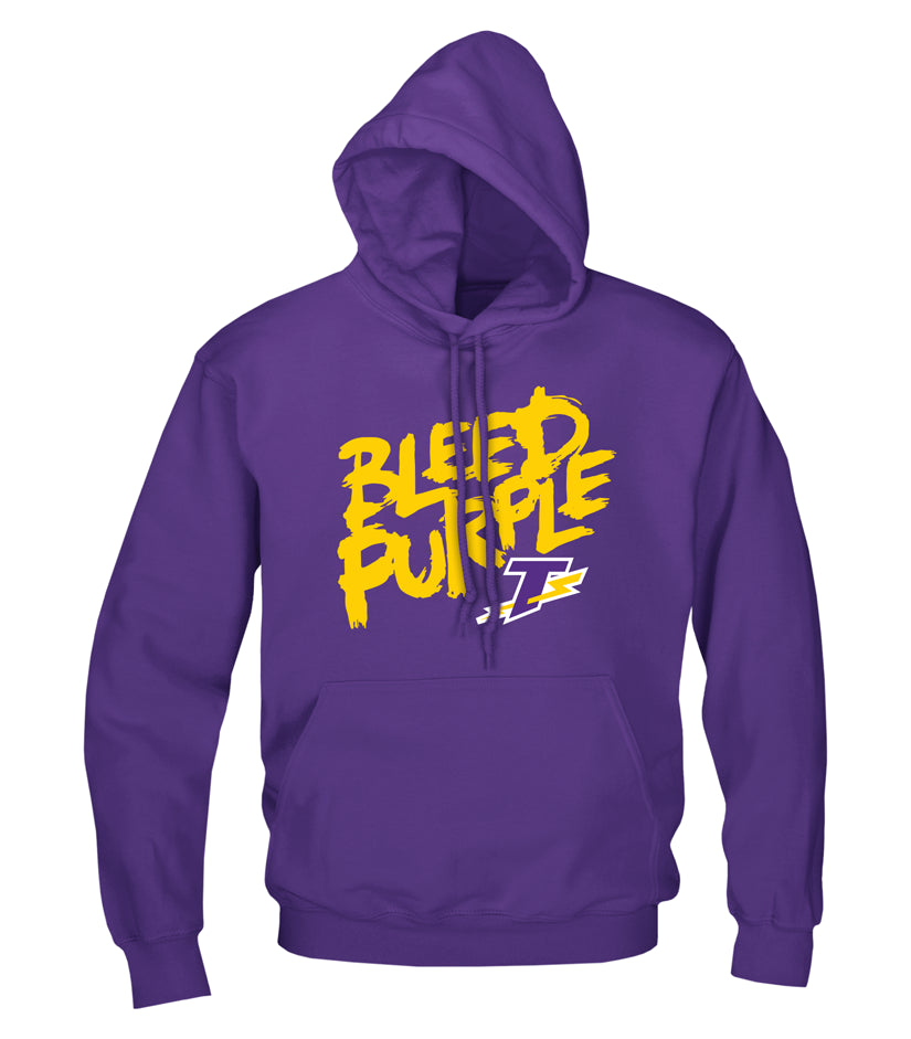 Thunder Youth 'Bleed Purple' Cotton Hoodie