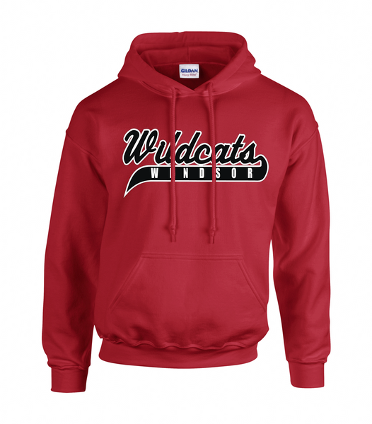 Windsor Wildcats Adult Cotton Hoodie With Embroidered Logo