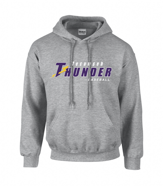 Tecumseh Thunder Adult Cotton Hoodie With Embroidered Logo