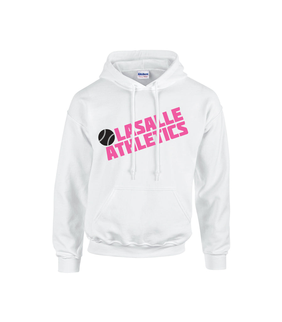 LaSalle Athletics 'Block Slant' Adult Cotton Hoodie