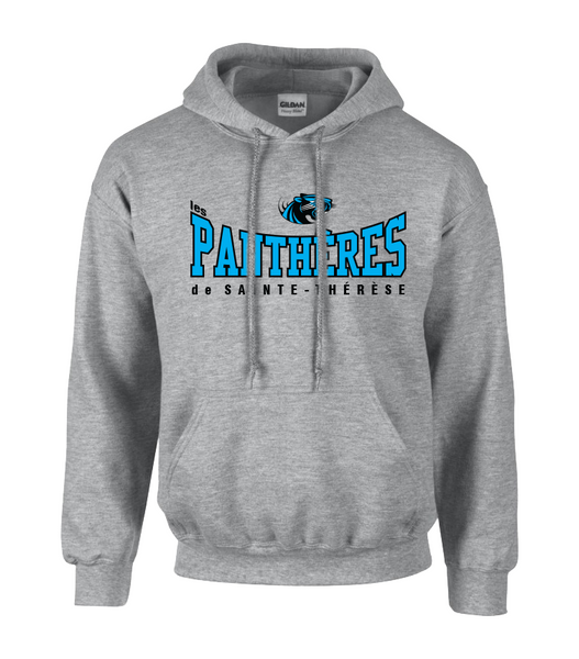 Pantheres Adult Cotton Pull Over Sweatshirt with Embroidered Applique Logo