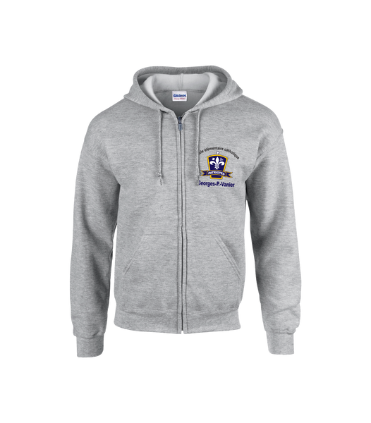 Patriotes Youth Cotton Full Zip Hooded Sweatshirt