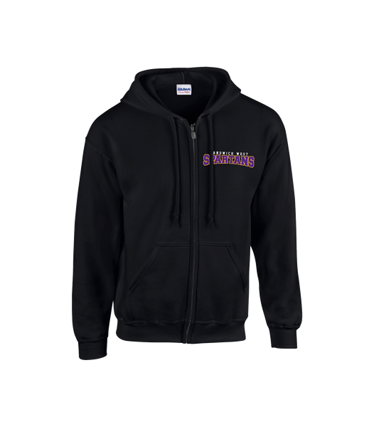 Spartans Youth/Adult Cotton Full Zip Hooded Sweatshirt