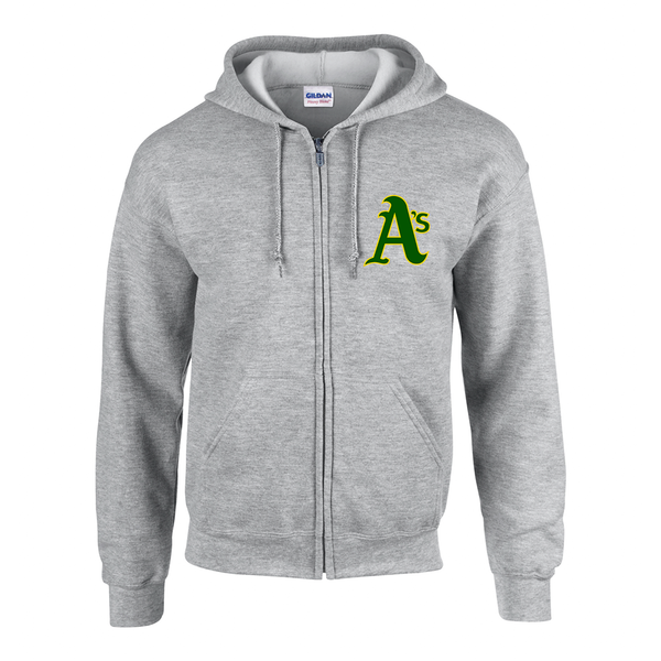 Athletics Adult Cotton Zip-Up Hoodie with Embroidered Logo