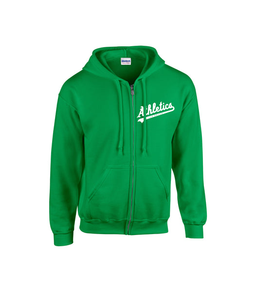 LaSalle Athletics Adult Zip-Up Hoodie with Embroidered Logo