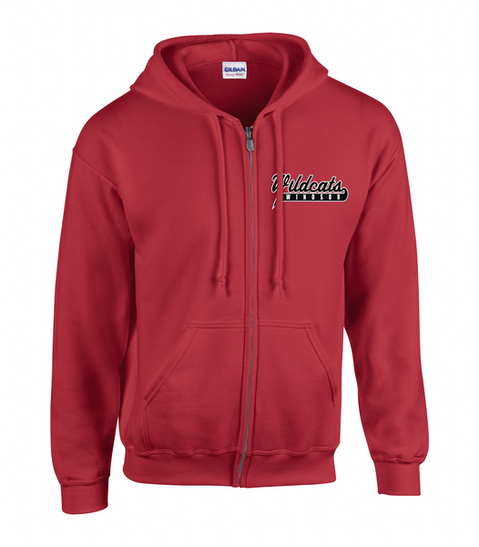 Wildcats Softball Adult Zip-Up Hoodie