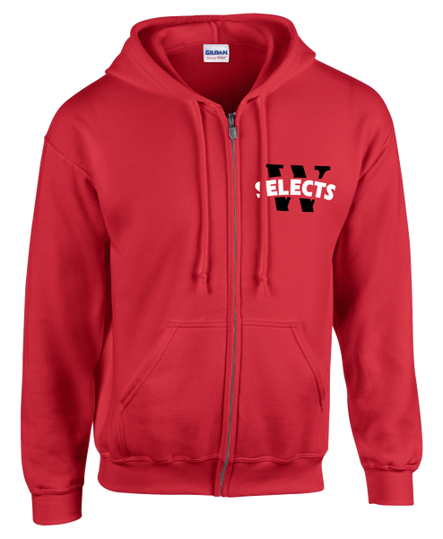 Selects Adult Cotton Full Zip Hooded Sweatshirt