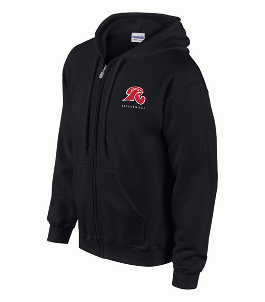 Falcons Adult Cotton Full Zip Hooded Sweatshirt with Embroidered Logo