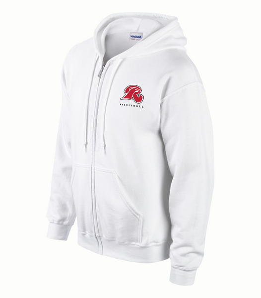 Falcons Youth Cotton Full Zip Hooded Sweatshirt with Embroidered Logo
