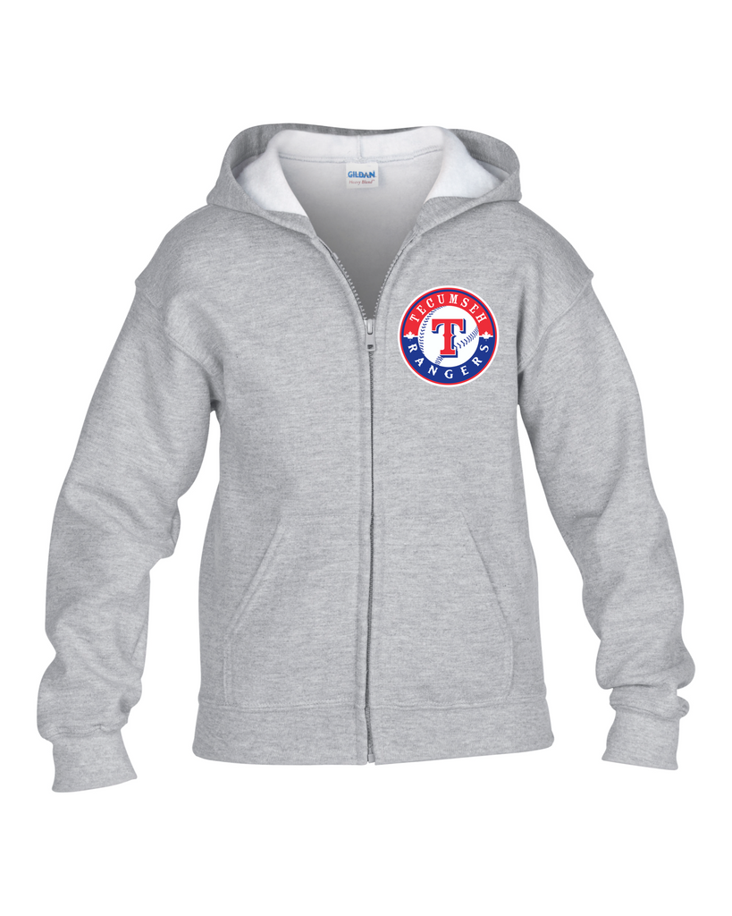 Rangers Youth Zip-Up Hoodie