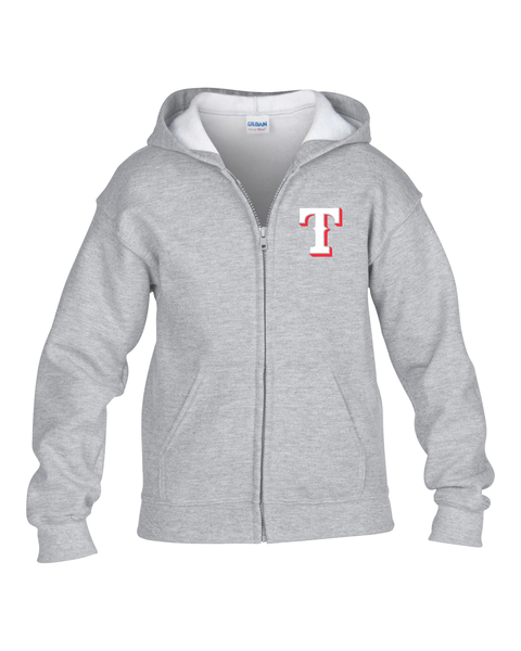 "Rangers Youth ""T"" Logo Zip-Up Hoodie"