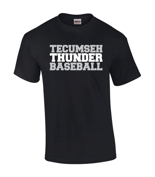 Tecumseh Thunder 'Baseball Block' Adult Cotton Tee