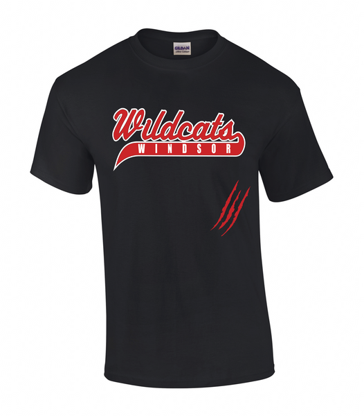Wildcats Softball Adult Claw Mark Tee