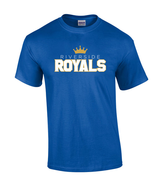 Royals Adult 'Outline Block' Cotton Tee