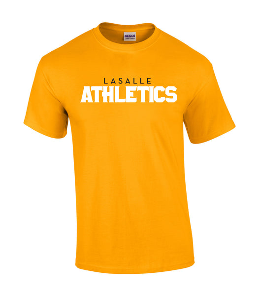 LaSalle Athletics 'Outline Block' Adult Cotton Tee