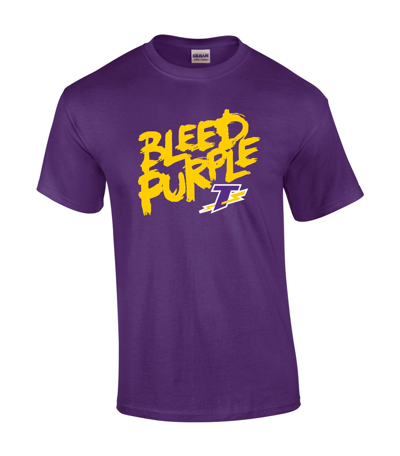 Tecumseh Thunder 'Bleed Purple' Youth Cotton Tee