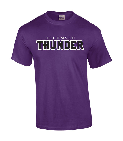 Thunder Adult 'Outline Block' Cotton Tee