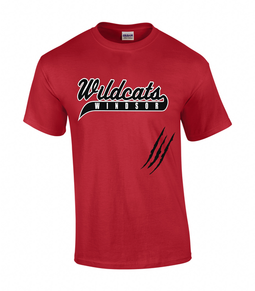 Windsor Wildcats Adult Claw Mark Tee