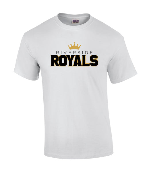 Riverside Royals 'Outline Block' Adult Cotton Tee