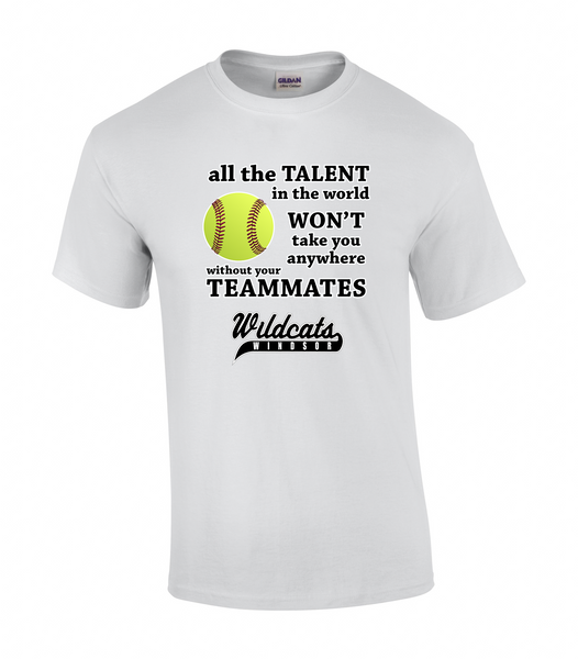 Wildcats Softball Adult Talent Tee