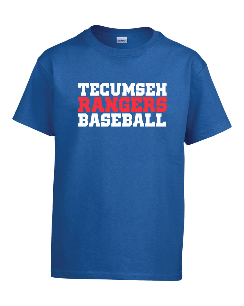 Tecumseh Rangers 'Baseball Block' Youth Cotton Tee